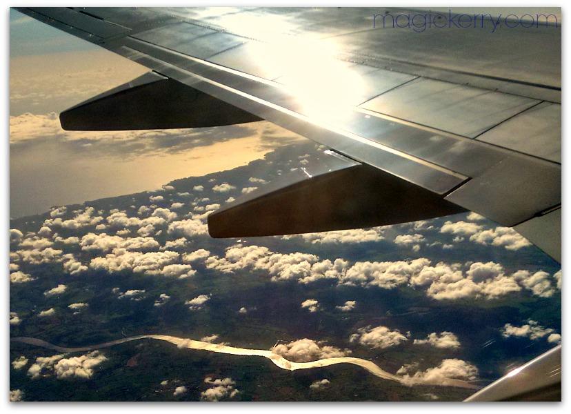 on flight to Ireland