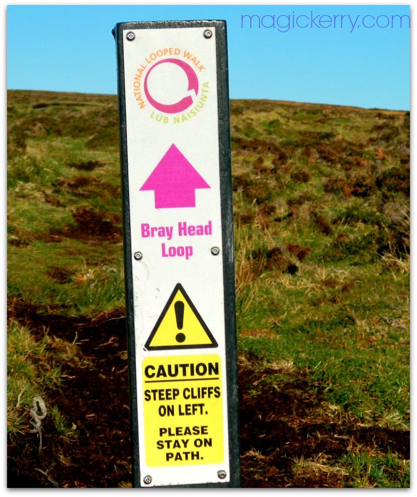 Stay on trail- Bray Head trail marker