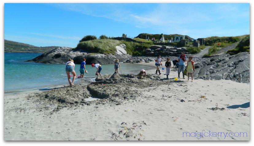 Kids on Derrynane Beach